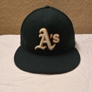 Oakland A's Fitted Hat and Vintage Collectibles